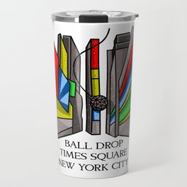 Ball Drop Times Square Travel Mug
