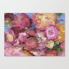Abstract Flowers 1938 Canvas Print