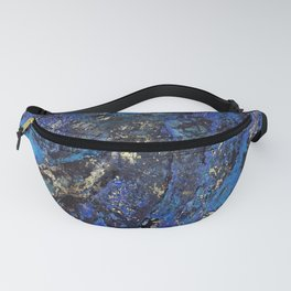 Precious Lapis Lazuli Stone Mineral Blue Gold Fanny Pack
