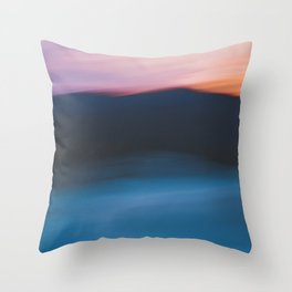Mountain Sunset Abstract Throw Pillow