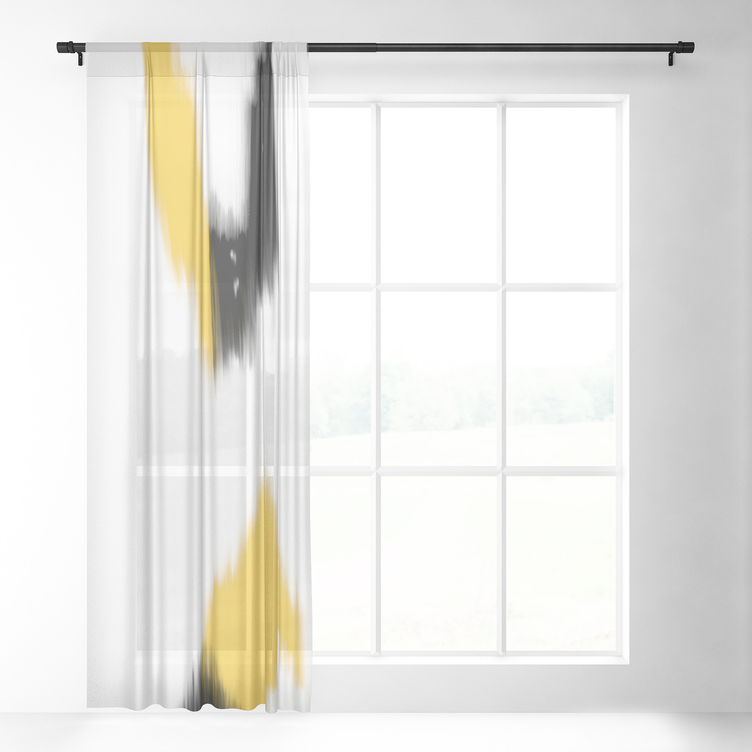 Rise And Fall Sheer Curtain By Laec Society6