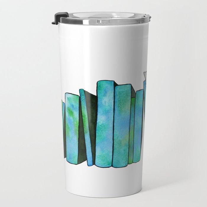 Literary Naps Blue Travel Mug