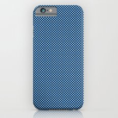 Navy Spotty Pattern Design Slim Case iPhone 6s