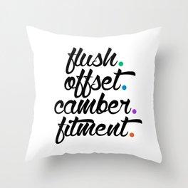 flush offset camber fitment v5 HQvector Throw Pillow
