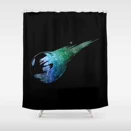 Final Fantasy VII logo universe Shower Curtain
