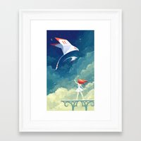 freeminds Framed Art Prints featuring Flyby by Freeminds