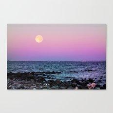 Full Moon on Blue Hour Canvas Print
