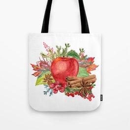 Apple Bouquet Tote Bag