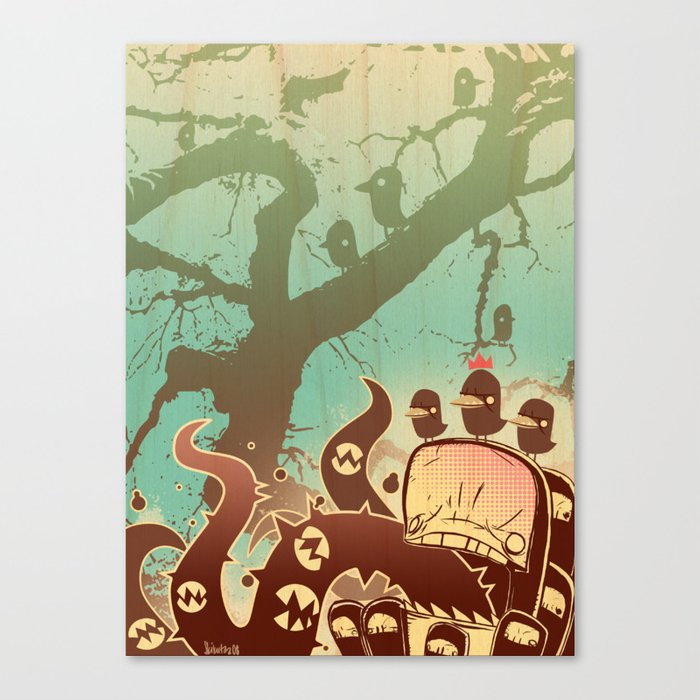 Scary Tree Canvas Print
