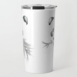 Panda Bear & Bamboo - Silver Bamboo Travel Mug