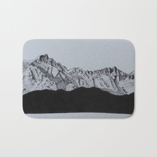 Sierra Nevada Range Bath Mat