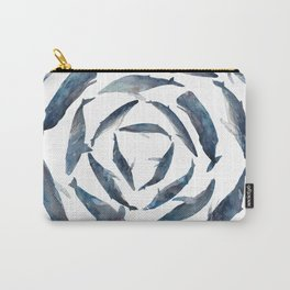 Circular Blue Wales Carry-All Pouch