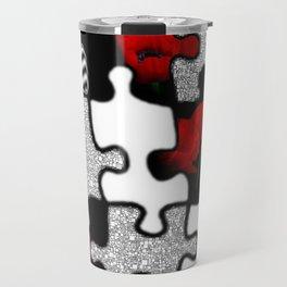 poppylove with puzzle-design -2- Travel Mug