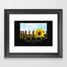 Where Hope Grows Framed Art Print