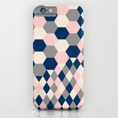 Honeycomb Blush and Grey Slim Case iPhone 6s