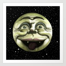 Rad Moon Rising Art Print