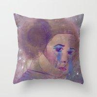 princess leia Throw Pillows featuring Princess Leia  by Mara Valladares