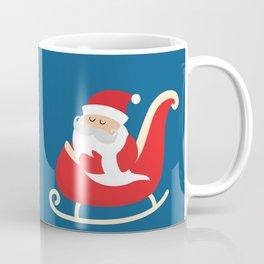 Merry Christmas Santa Claus Flying in his Sleigh Coffee Mug