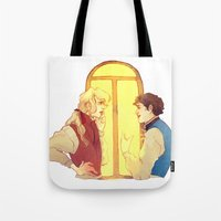 politics Tote Bags featuring Politics by chazstity
