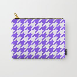 Periwinkle Houndstooth Carry-All Pouch