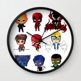 Chibi Heroes Set 2 Wall Clock