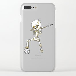 Dabbing Skeleton Cute Funny Dab Dance Clear iPhone Case