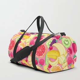 Fruit Cocktail on Pink Duffle Bag