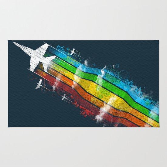 Colored Flight Rug