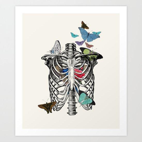 Anatomy 101 - The Thorax Art Print
