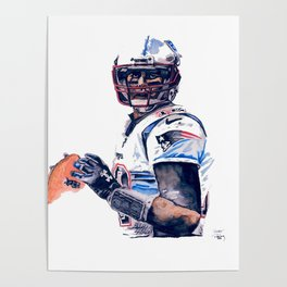 """GOAT"" featuring Legend Tom Brady Poster"