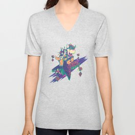 Bowser in the Sky Unisex V-Neck