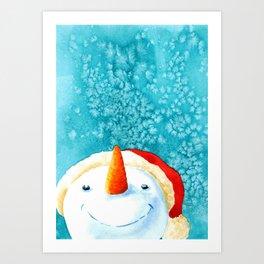 Look it's snowing Art Print