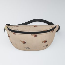 Antique French Dog Pattern Fanny Pack