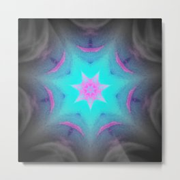 Blue Pink Lavender Starburst Metal Print