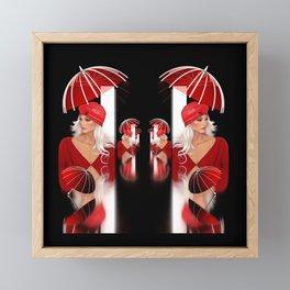 umbrella time -09- Framed Mini Art Print