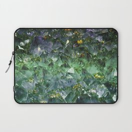 Rough cut emerald and amethyst Laptop Sleeve