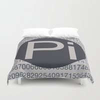 pi Duvet Covers featuring Pi Mono by sonsofwolves