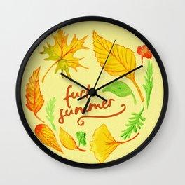 fuck summer Wall Clock