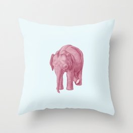 Pink elephants and the emperor of icecream Throw Pillow