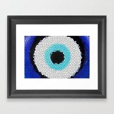 Blue eye Luck Framed Art Print