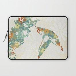 Colorful Teal Hummingbird Art Laptop Sleeve