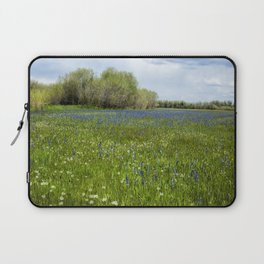 Field of Camas and Dandelions, No. 1 Laptop Sleeve