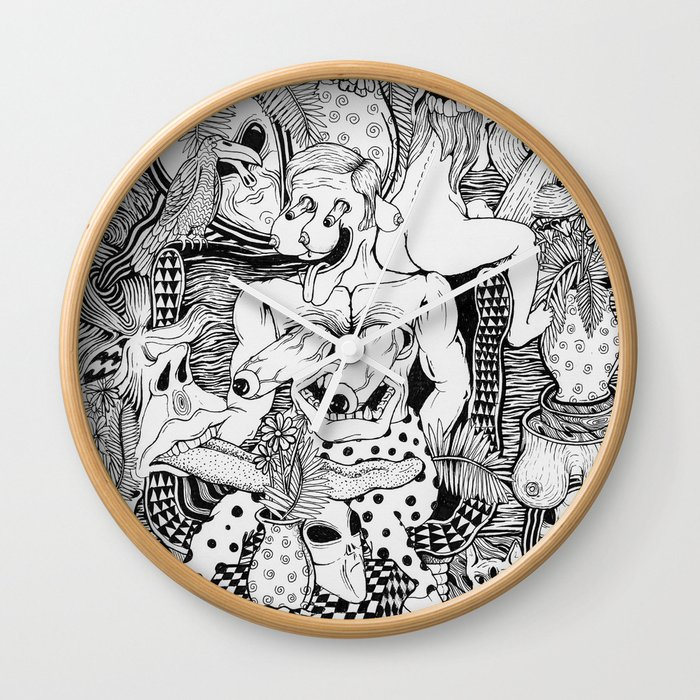 Man In Living Room Wall Clock By Cahillwessel Society6
