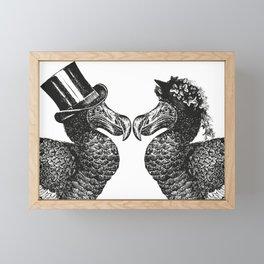 Mr and Mrs Dodo | Dodo Couple | Dodo Bird | Extinct Birds | Black and White | Framed Mini Art Print