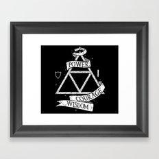 The Legend of Zelda - Triforce Framed Art Print