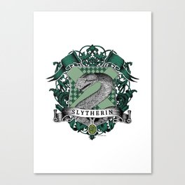 Slytherin Color Crest Canvas Print