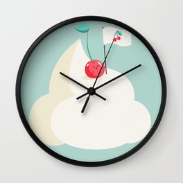 Cherry on top (of the whipped cream mountain) Wall Clock