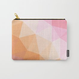 Coral and Peach Low Poly Carry-All Pouch