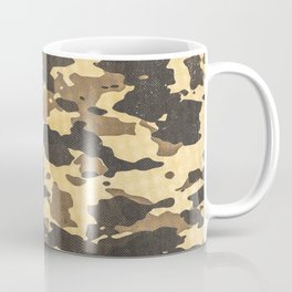Desert Camouflage Retro Grunge Pattern Coffee Mug