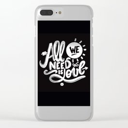 ALL WE NEED IS SOUL Clear iPhone Case